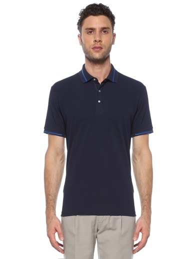 NetWork Erkek 1073748 Slim Fit Polo Yaka T-shirt Lacivert